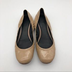 Vera Wang Nude Leather Flats, size 7.5